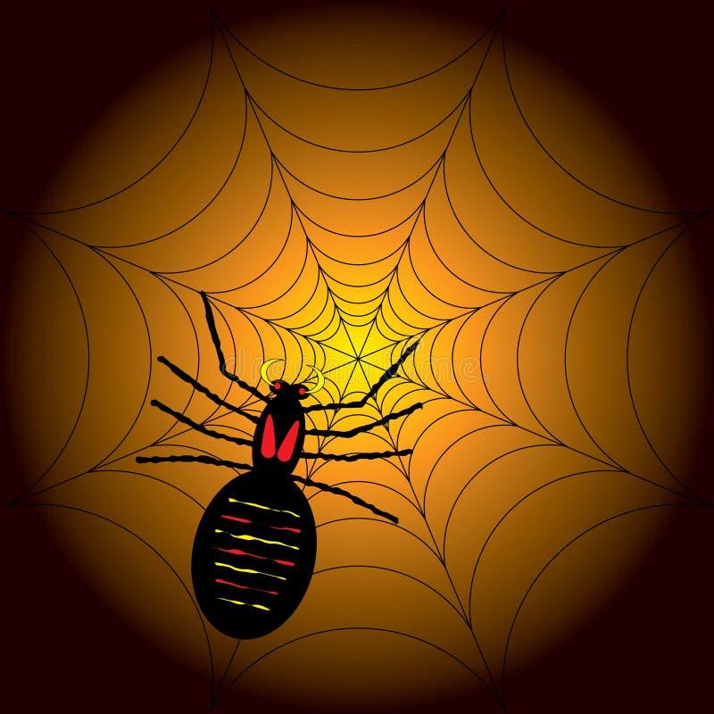 спайдер halloween иллюстрация штока