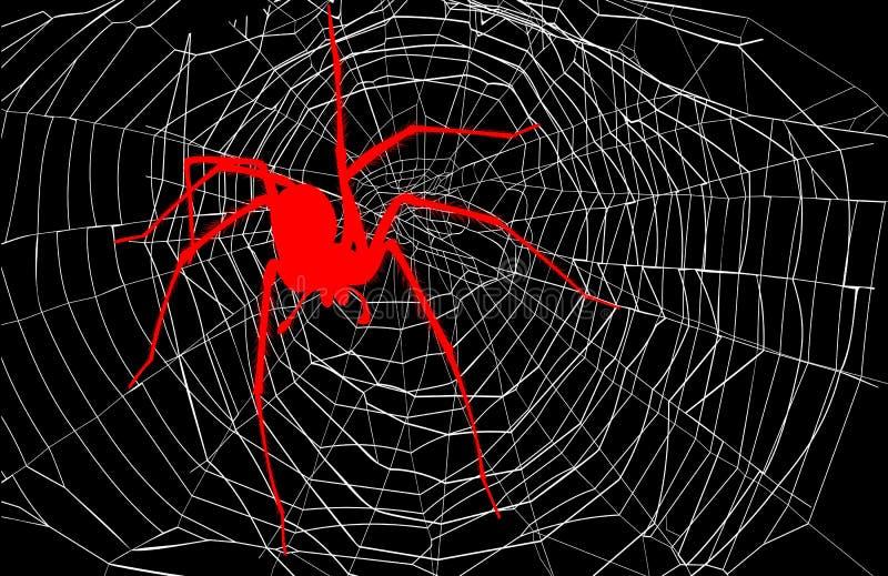 Спайдер и сеть паука иллюстрация вектора