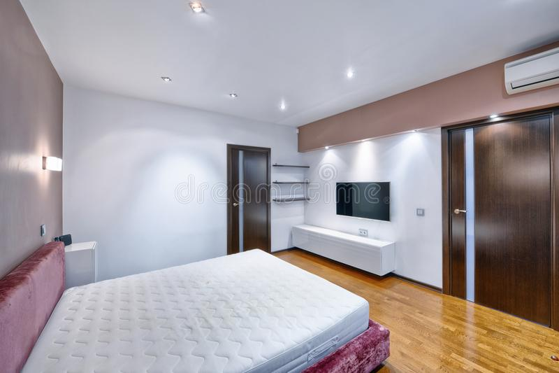 Спальни дизайна интерьера стоковое изображение