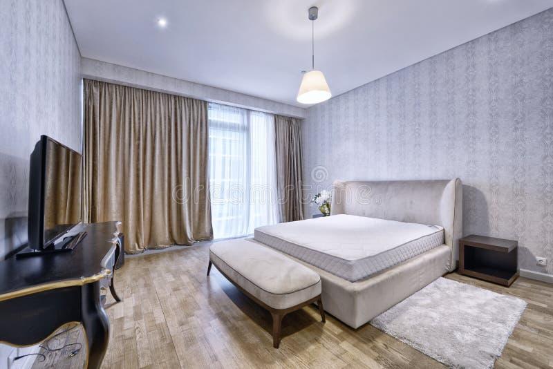 Спальни дизайна интерьера стоковые изображения