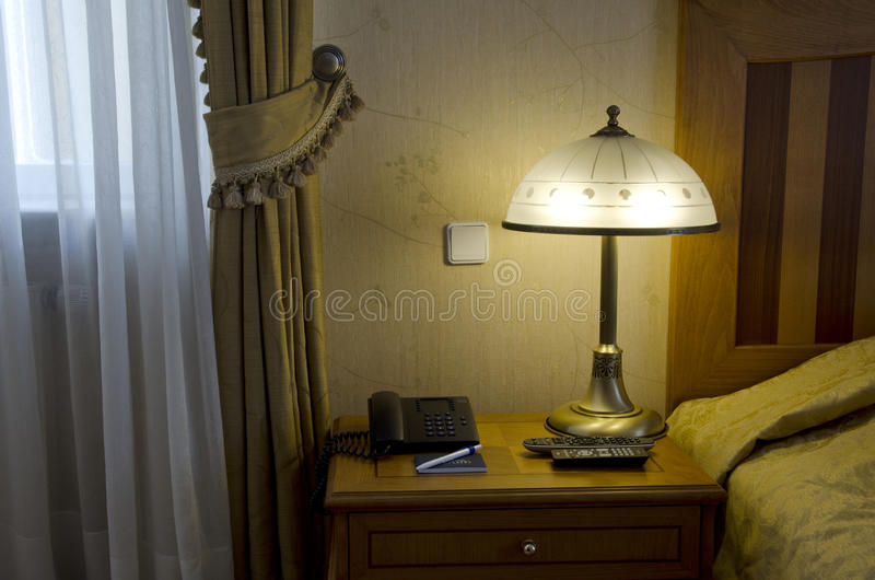 Спальня в сюите стоковые изображения rf