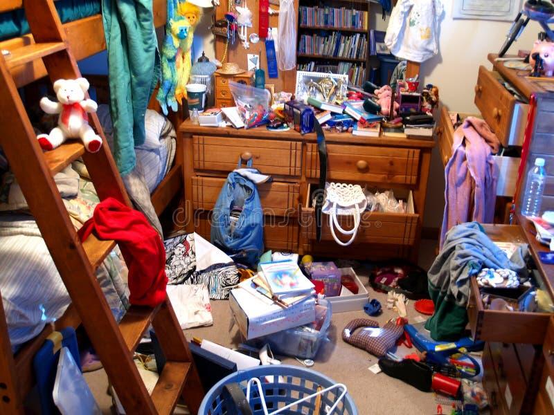 спальня грязная стоковое фото rf