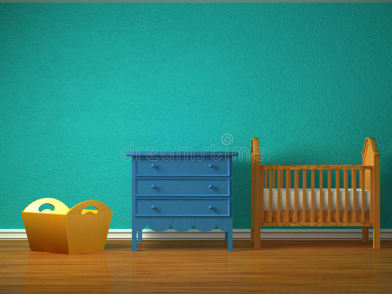 спальня младенца иллюстрация вектора