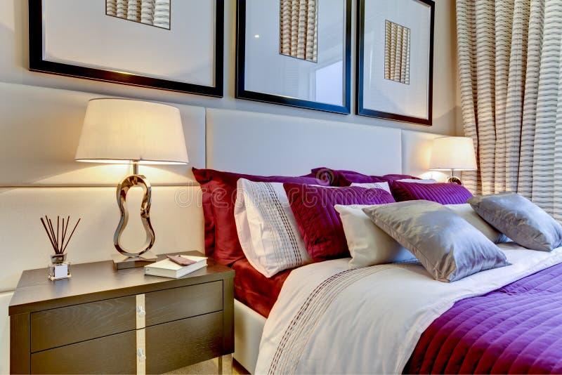 спальня модная стоковая фотография rf