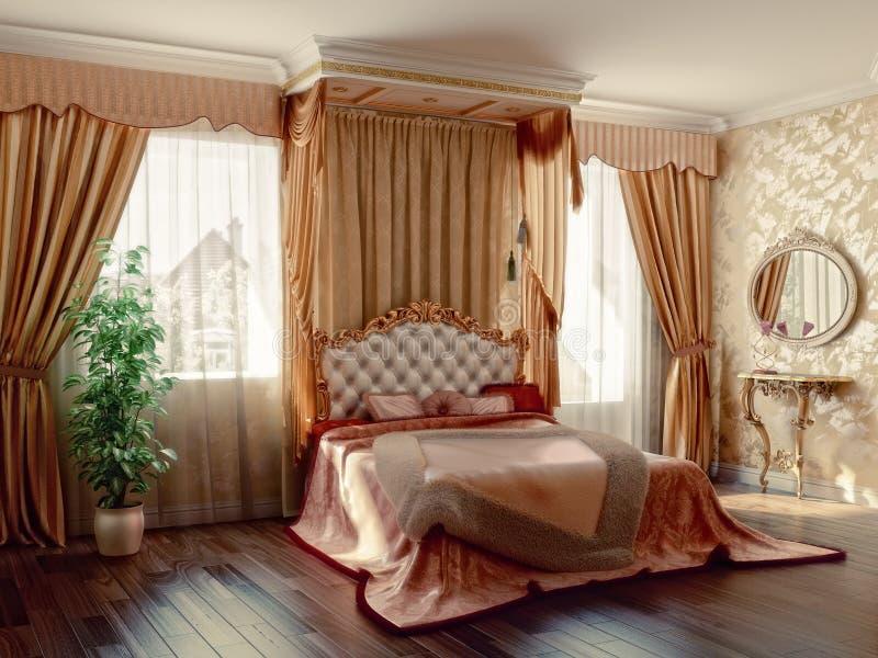 спальня иллюстрация штока
