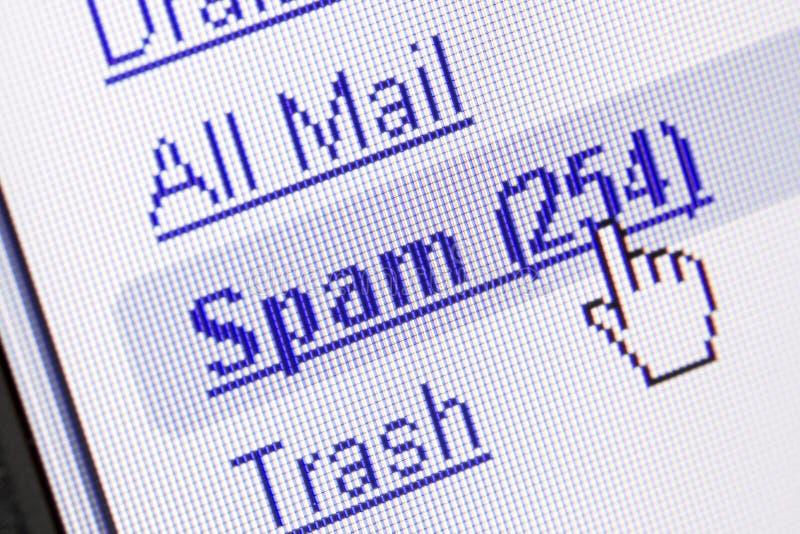 спам почтового ящика стоковое изображение rf