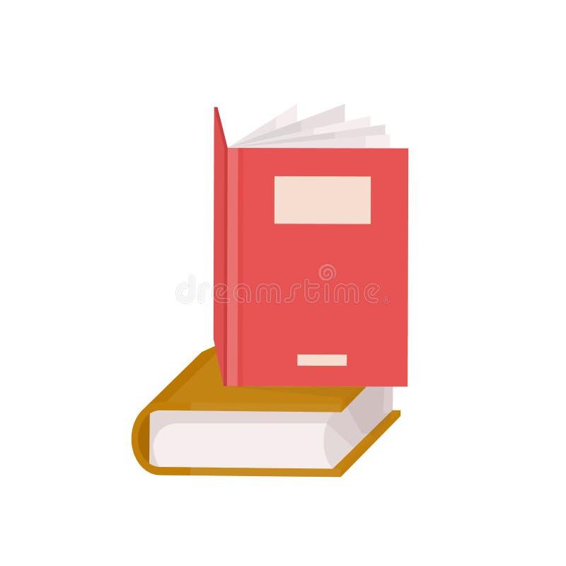 Спарите книг в твердом переплете Стог учебников для образования и академичных исследований, литературы небылицы Декоративный диза иллюстрация штока