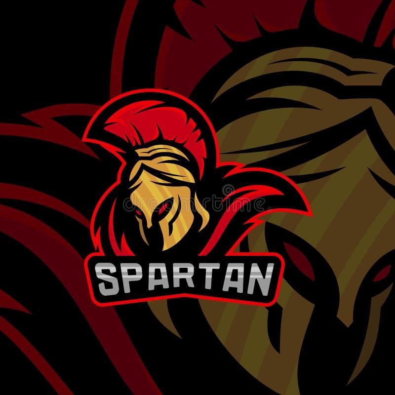 Спартанский шаблон вектора логотипа Современная команда esport логотипа Логотип эмблемы иллюстрация штока