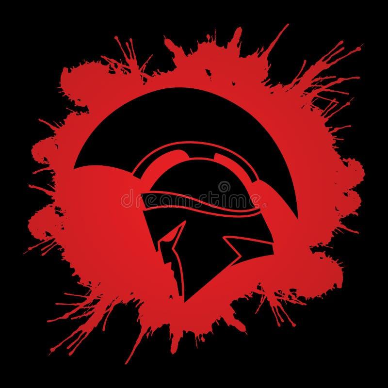 Спартанский шлем ратника бесплатная иллюстрация