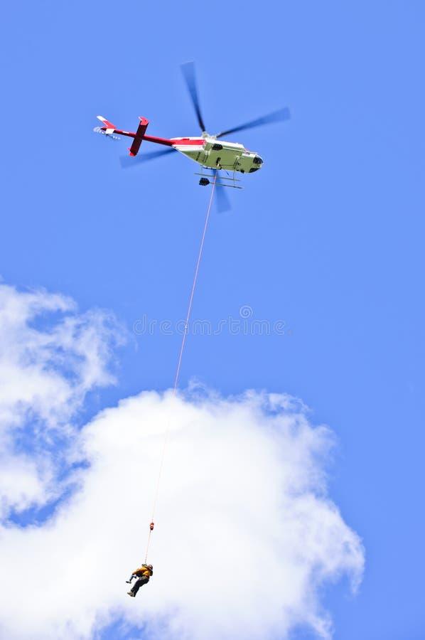 спасение вертолета стоковое фото