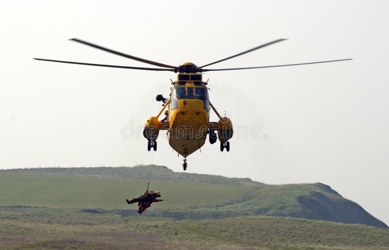 спасение вертолета стоковое изображение