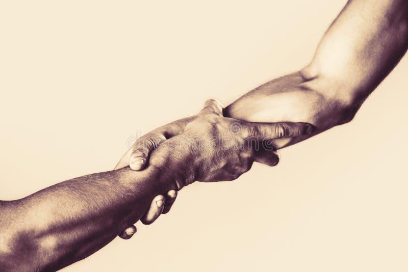 Спасение, помогая жест или руки Концепция руки помощи, поддержка Протягиванная рука помощи, изолированная рука, спасение стоковые фото