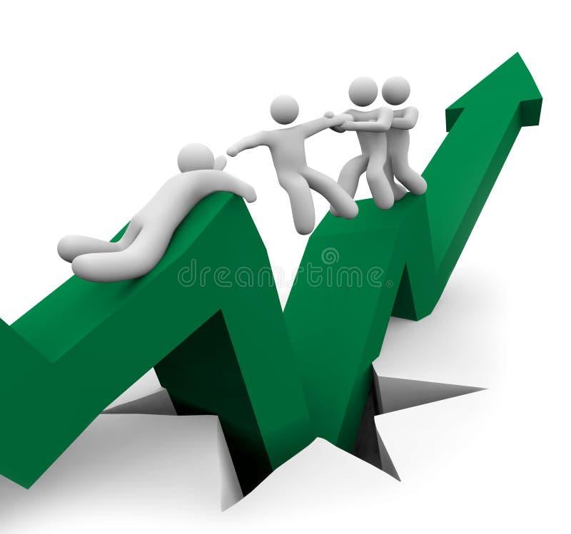 спасение рецессии иллюстрация штока