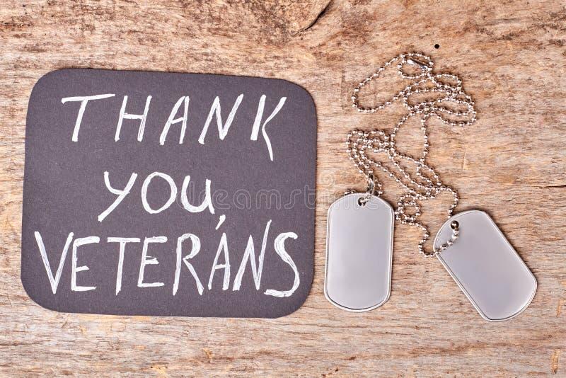 Спасибо ветераны, плоское положение стоковое изображение rf