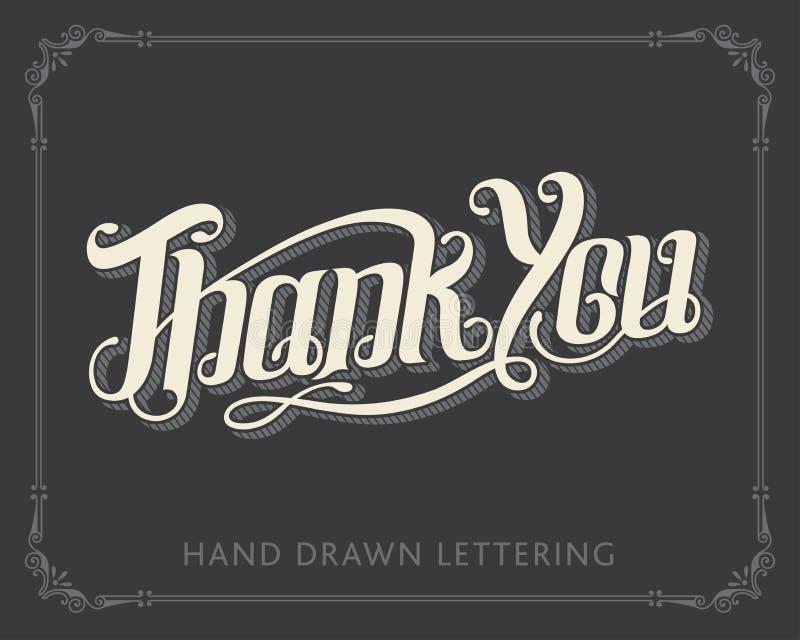 СПАСИБО литерность нарисованная рукой стоковое изображение