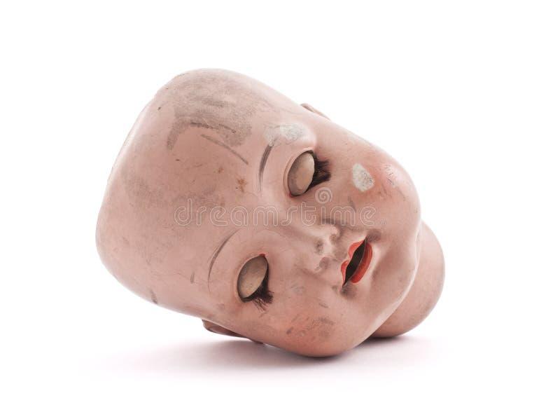 Спать голова куклы стоковые изображения