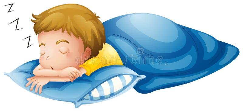 Спать мальчика иллюстрация штока