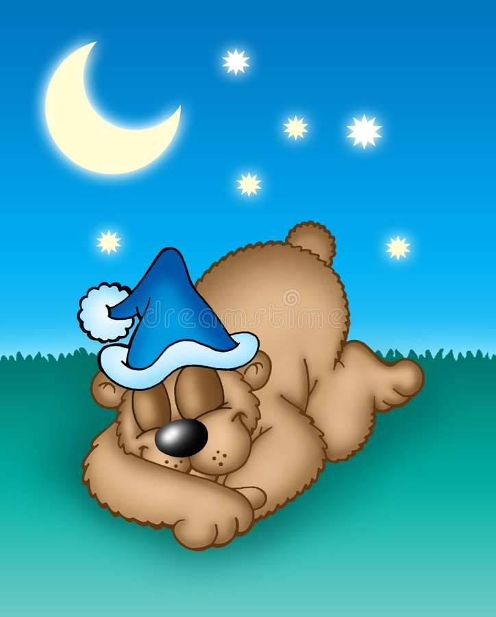 фото сказочного спящего медвежонка содержит