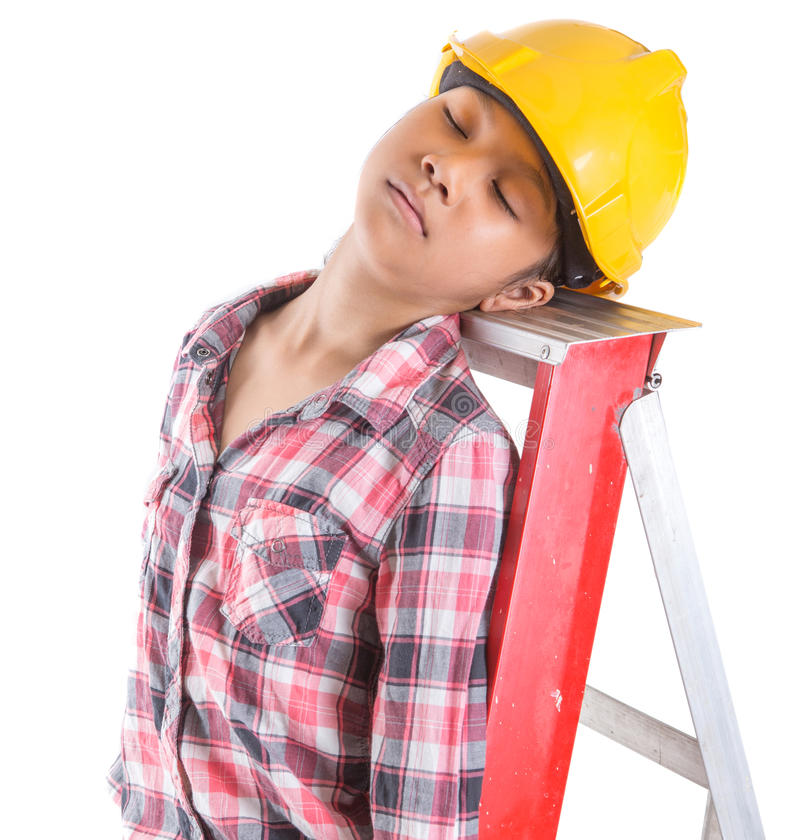 Спать на работе III стоковое фото rf