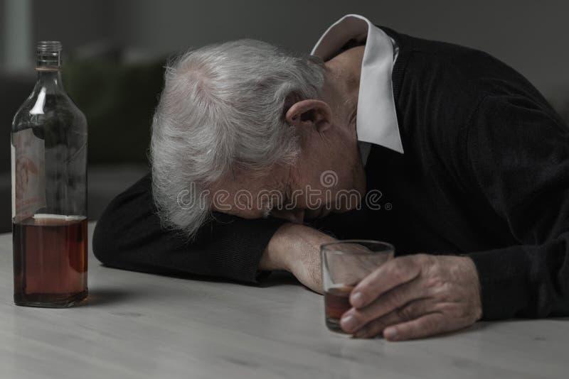 Спать после спирта стоковое изображение