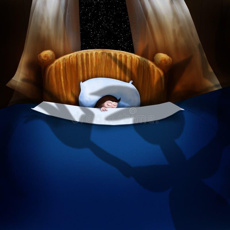 спать иллюстрация штока