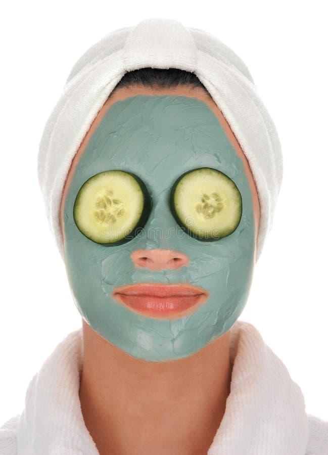спа грязи маски огурца стоковое изображение