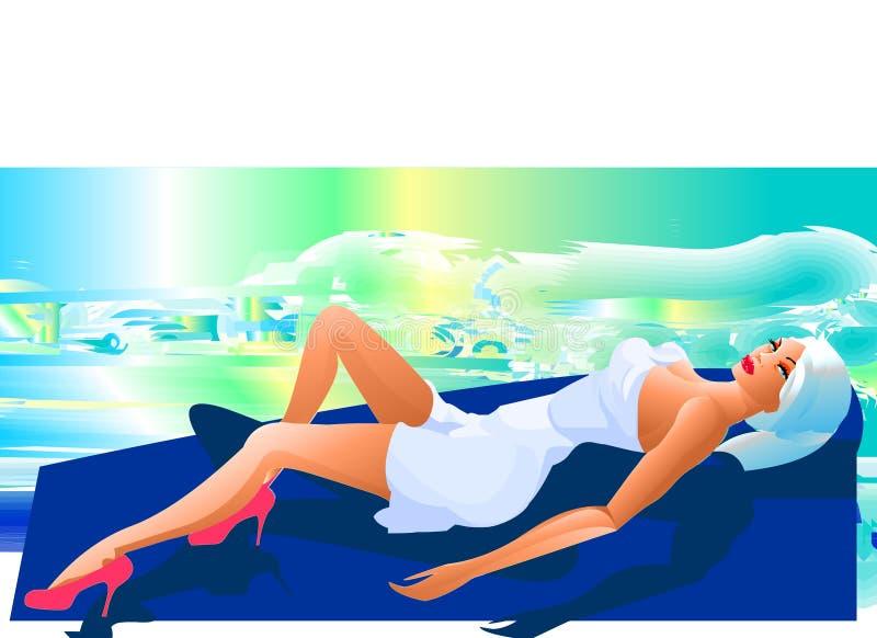 спа красотки иллюстрация штока