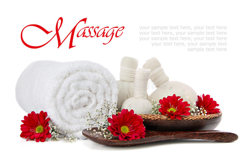 спа массажа обжатия травяная стоковое изображение