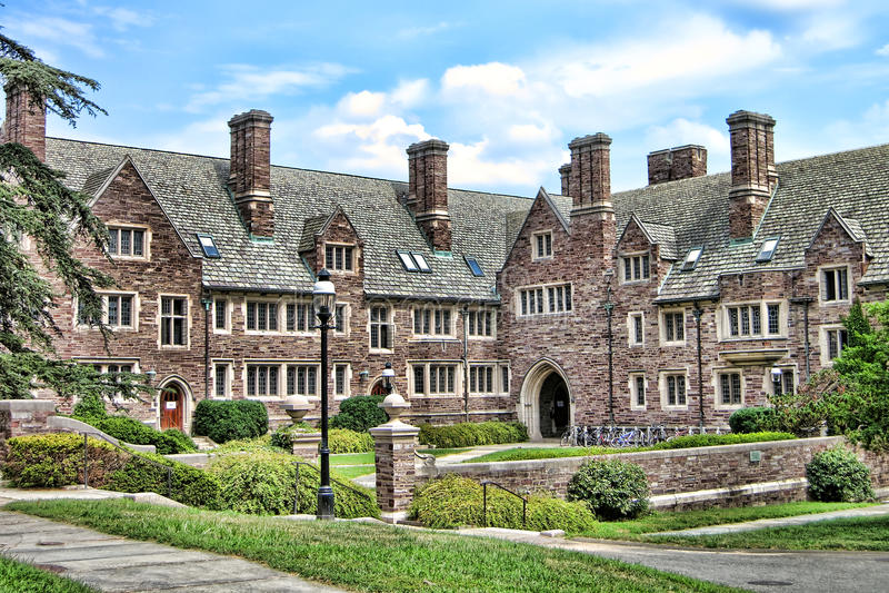 Спальня студента Принстонского университета стоковая фотография rf