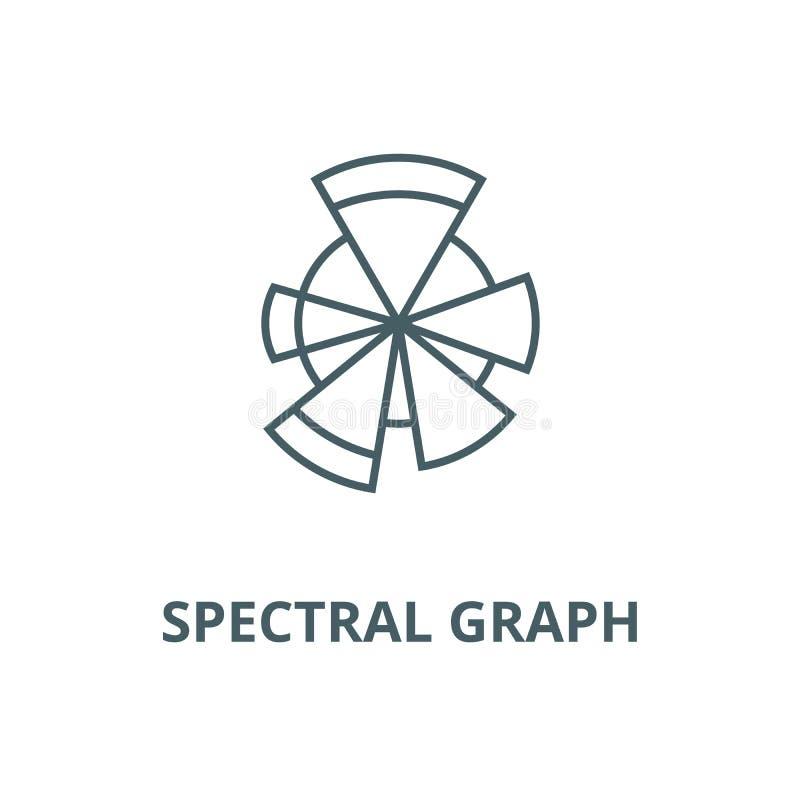 Спектральная линия значок вектора диаграммы, линейная концепция, знак плана, символ бесплатная иллюстрация