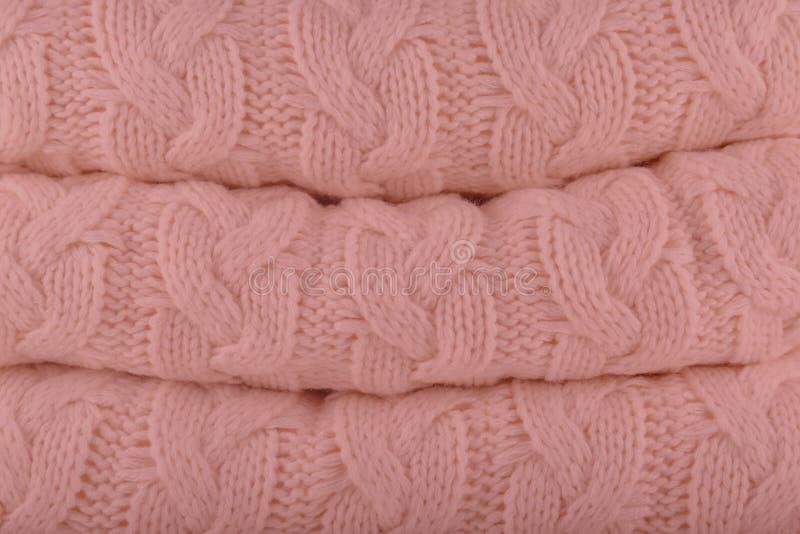 Спелая розовая осен-зима 2018-2019 цветов моды Pantone вяжет стоковые изображения