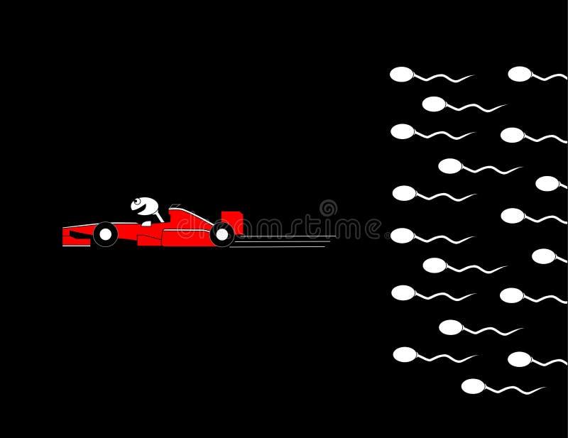 сперма водителя автомобиля иллюстрация вектора