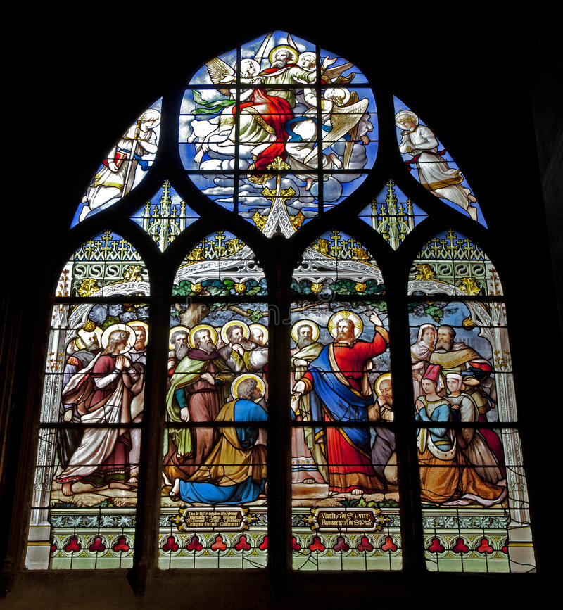 специализированная часть окна jesus paris peter стоковое изображение rf