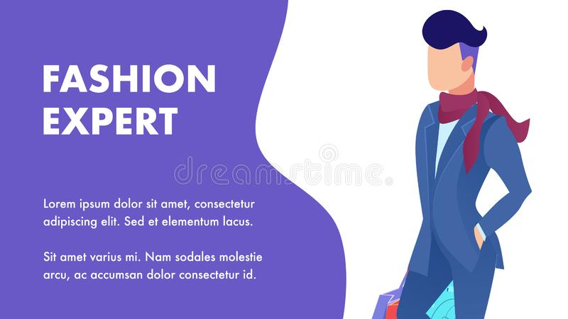 Специалист моды наклоняет шаблон знамени квартиры обслуживания бесплатная иллюстрация