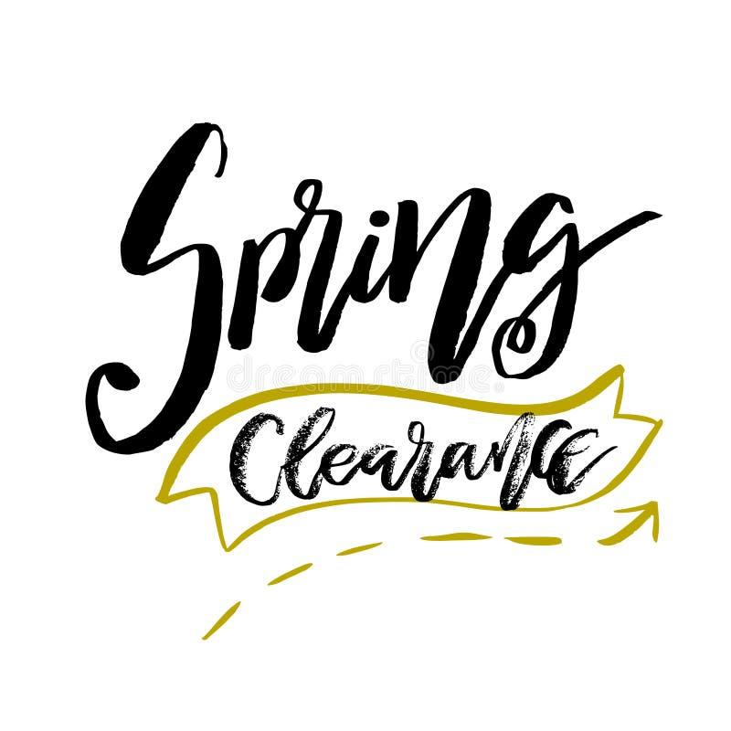 Специальный зазор весны - вручите вычерченную цитату воодушевленности вектор иллюстрация штока