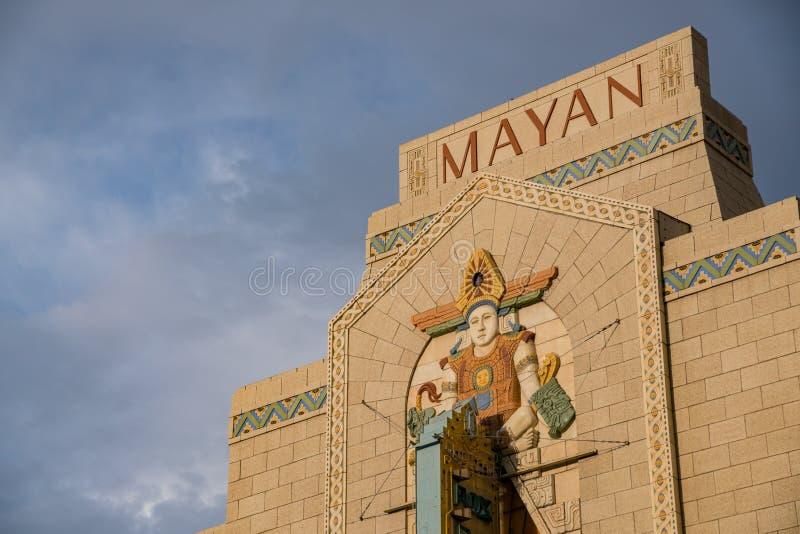 Специальный майяский театр увидел на Денвере стоковое фото