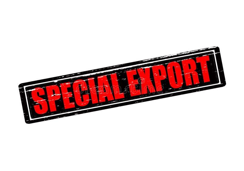 Специальный экспорт иллюстрация вектора