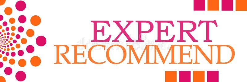 Специалист рекомендует розовая оранжевая горизонтальную бесплатная иллюстрация