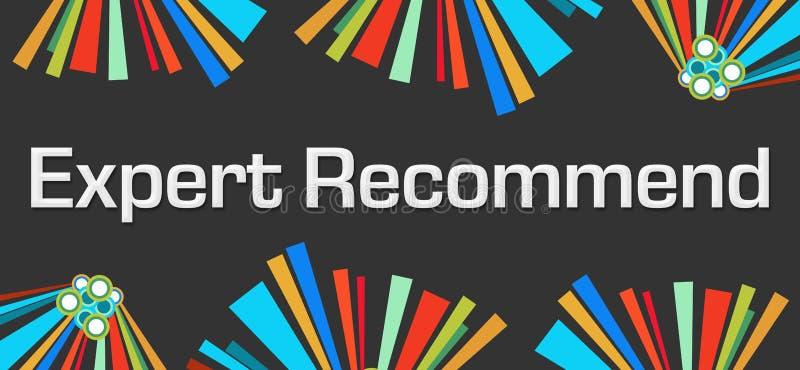 Специалист рекомендует темные красочные элементы бесплатная иллюстрация