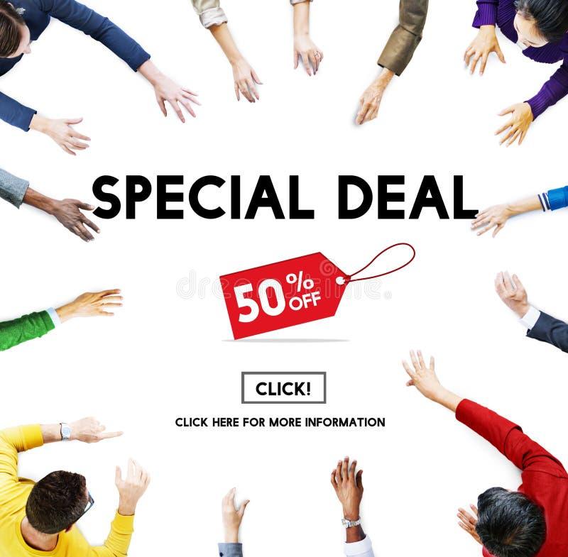 Специальное дело рекламируя коммерчески концепцию маркетинга стоковое фото