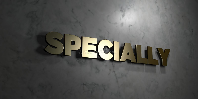 Специально - текст золота на черной предпосылке - 3D представило изображение неизрасходованного запаса королевской власти иллюстрация штока