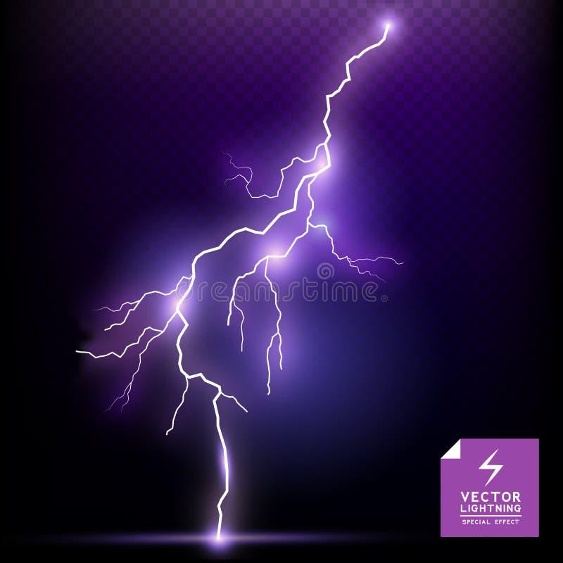 Специальный эффект молнии вектора иллюстрация вектора