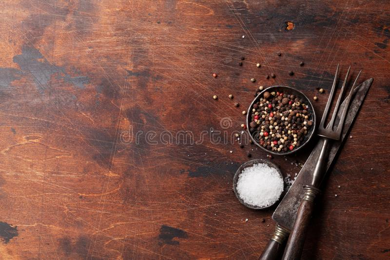 Специи для мяса соль перца стоковые фото