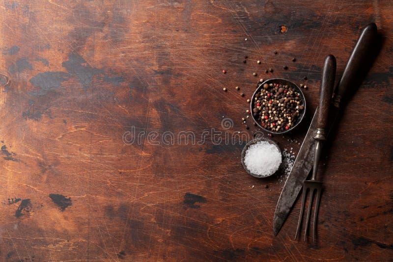 Специи для мяса соль перца стоковое фото