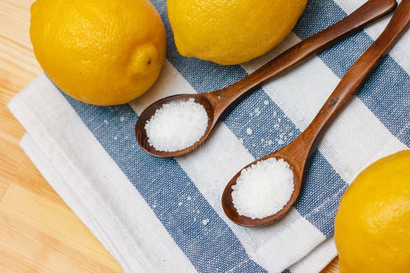 Специи и приправы Взгляд сверху лимонной кислоты стоковое фото