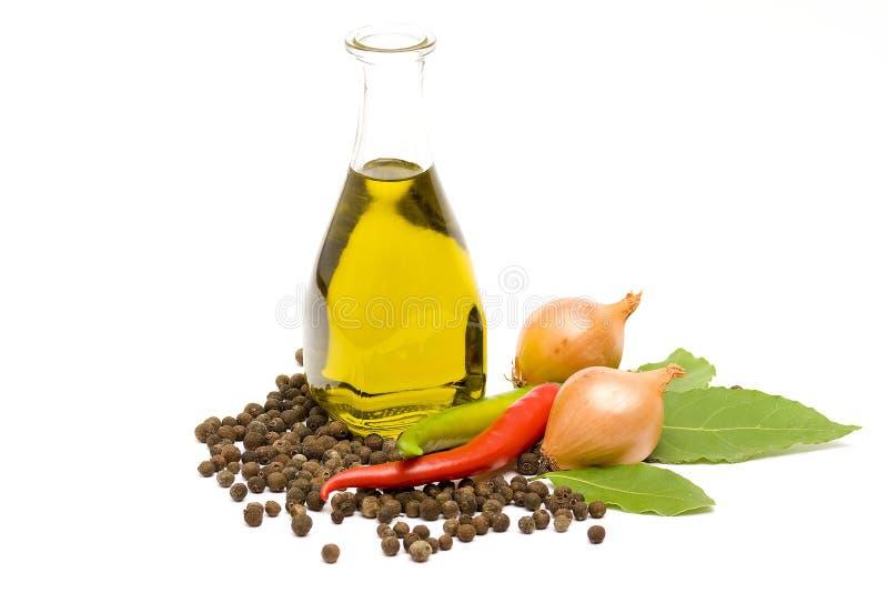 специи оливки масла трав стоковая фотография
