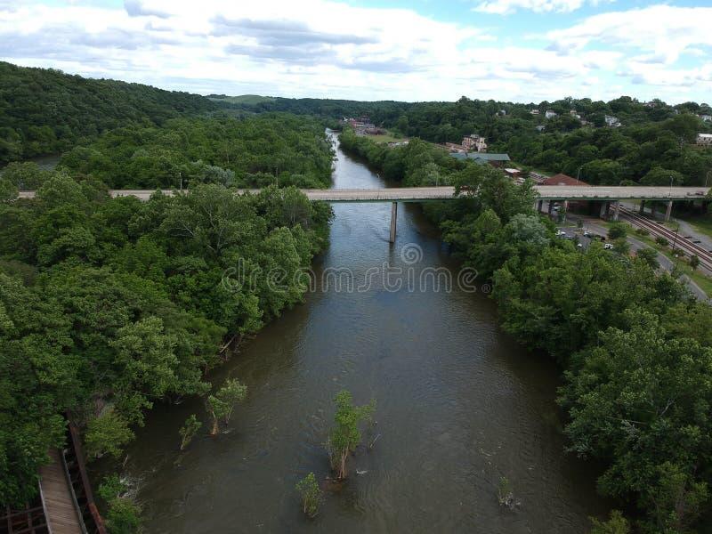 Спеша вода James River стоковое фото rf