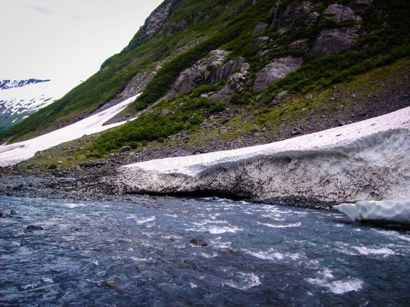 Спеша воды Аляски стоковые изображения rf