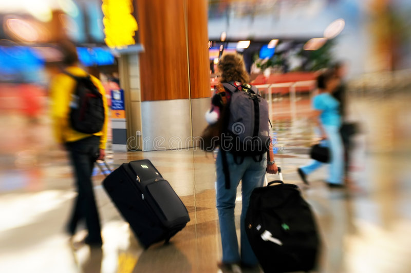 спешка авиапорта стоковая фотография rf