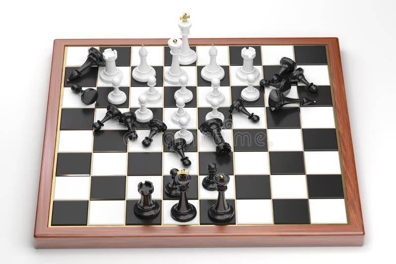 Спешка белых диаграмм шахмат бесплатная иллюстрация